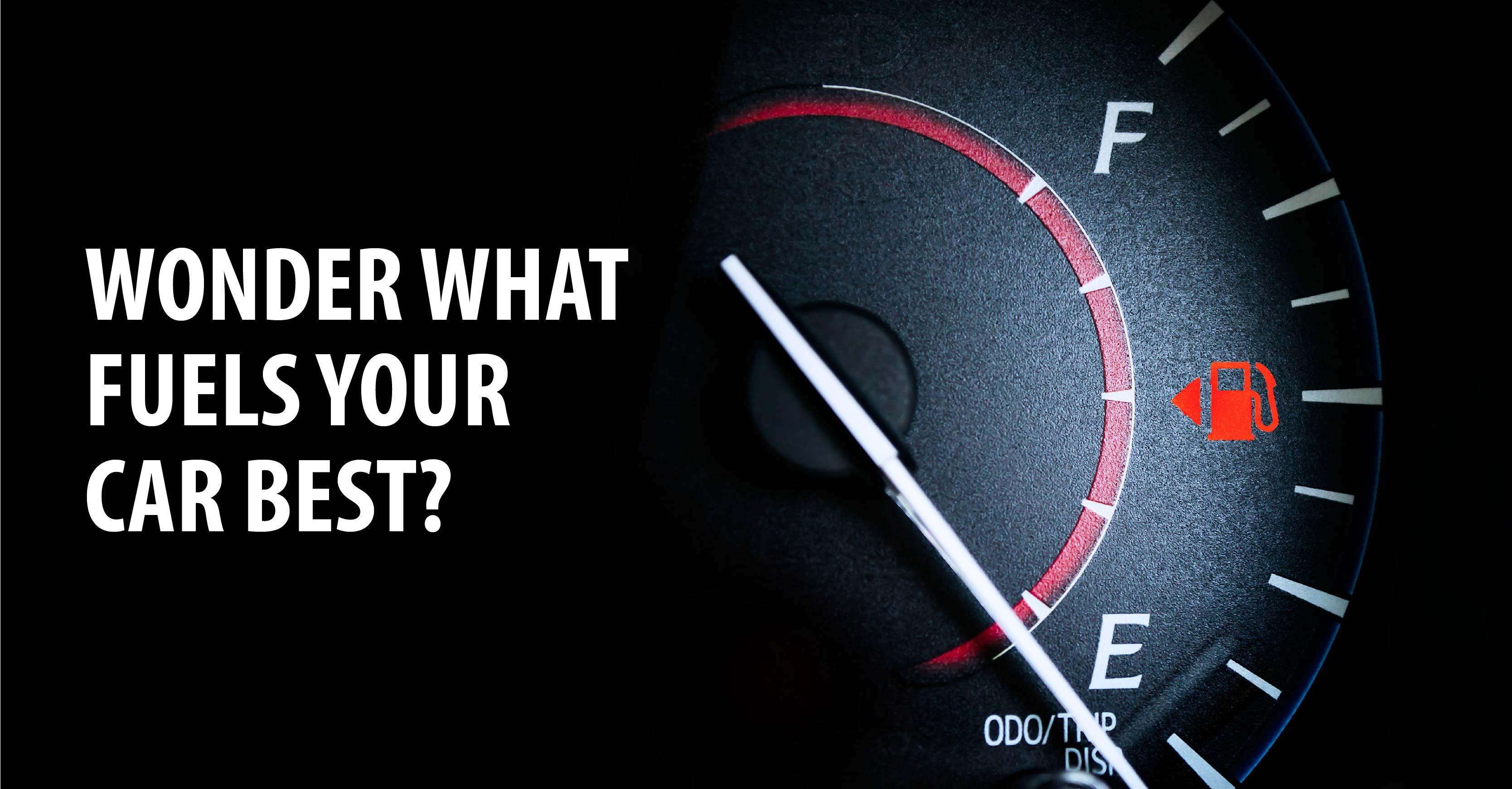 WONDER WHAT FUELS YOUR CAR BEST?